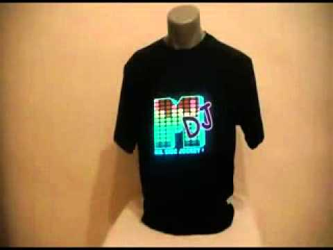 a402a51accec Sound Activated LED EL) T Shirts (Unisex) - YouTube