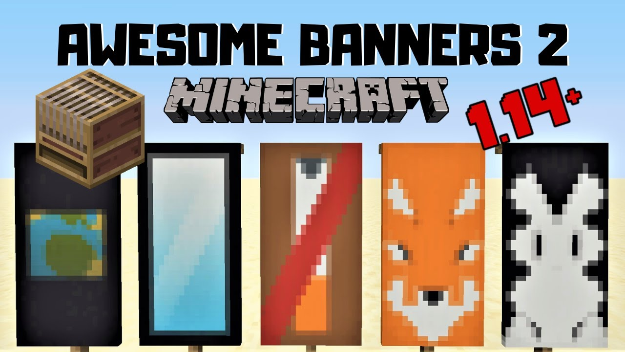 5 Awesome Minecraft Banner Designs With Tutorial 2 Loom Youtube