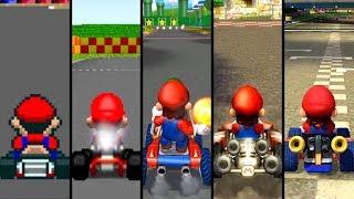 Evolution of Mario Courses in Mario Kart (1992-2019)
