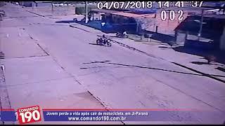 Jovem perde a vida após cair de motocicleta, em Ji Paraná