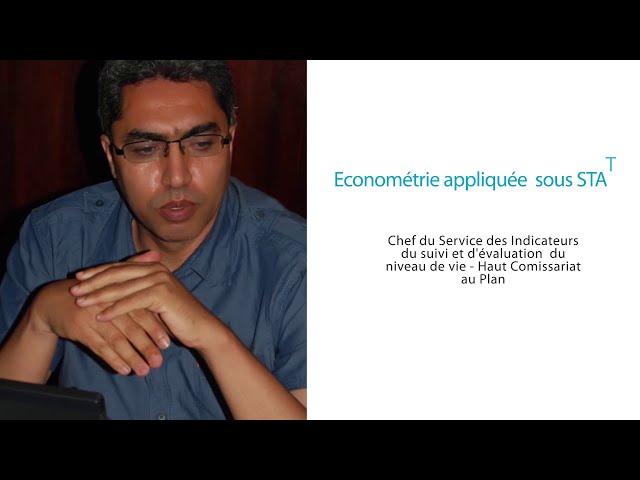 Workshop Doctoral Pr Ezzrari: Économétrie appliquée sous STATA