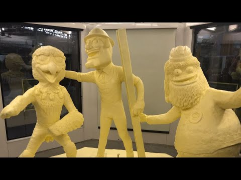 Tyson - Butter Sculpture At Pennsylvania Farm Show Features Steely McBeam & Gritty