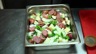 Kielbasa, Onion, Potato & Olive Oil Casserole : Full Meal Recipes