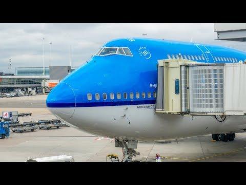 KLM B747-400 ECONOMY CLASS | New York to Amsterdam | FlyAround