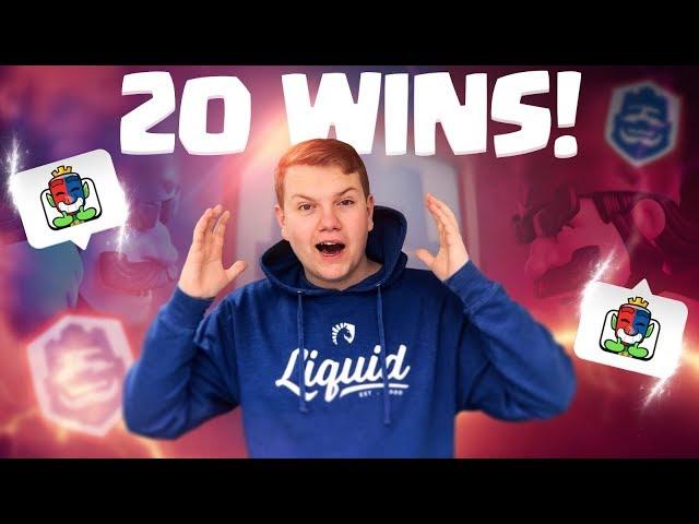 20 WINS IN CLASH ROYALE LEAGUE CHALLENGE! EXCLUSIVE EMOTE!