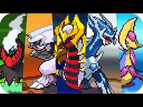 Pokemon Platinum - All Legendary Pokémon Battles (1080p60)