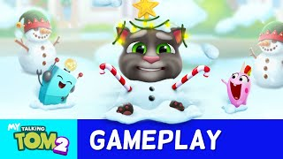 Smash a Snowman in My Talking Tom 2! NEW UPDATE (Gameplay)