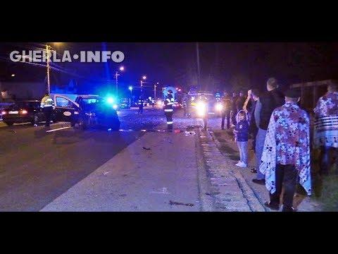 Accident Gherla taxi lovit de autocar Republica Moldova, tânără rănita (Cluj) 16 09 2017