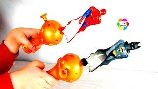 سبايدرمان يتحدى باتمان فى لعبة الطيران اجمل العاب الشخصيات الخارقة للاطفال Batman vs Spiderman