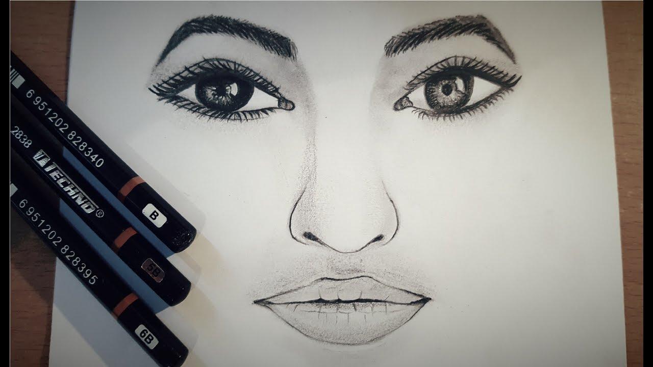 Comment dessiner un visage avec des crayons en graphite tape par tape youtube - Comment dessiner un but de foot ...