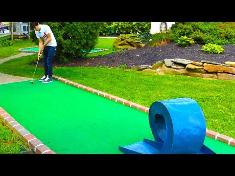 Thumbnail: INSANE DOUBLE HOLE IN ONE! MINI GOLF: LETS PLAY FOR REAL!