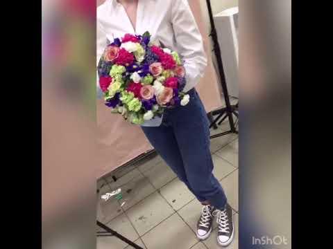 Букет альстромерия, диантусы, ирисы, розы | Доставка цветов PION.RU