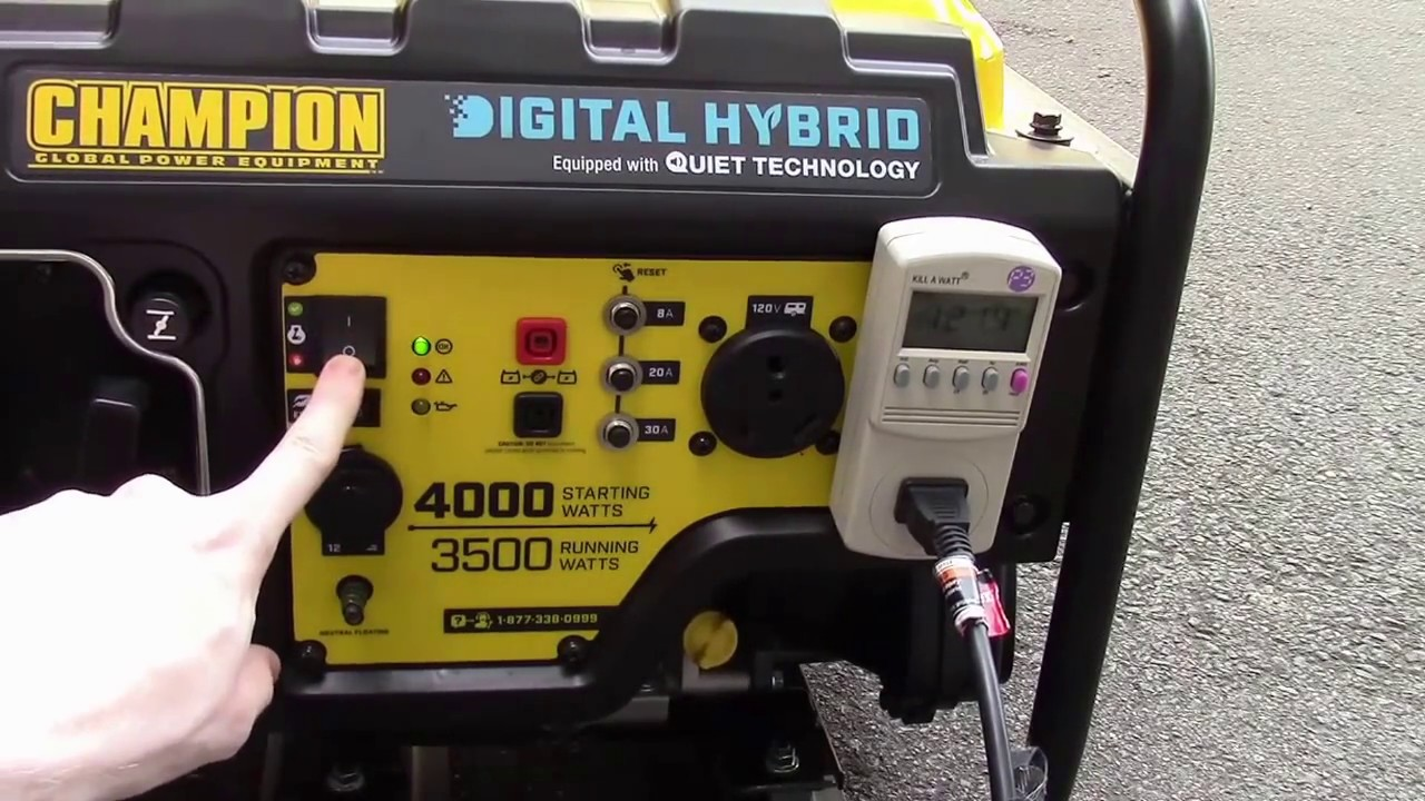Champion 3500 4000 Watt Digital Hybrid Inverter Generator