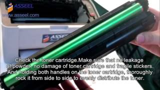 how to install compatible toner cartridge into Printer MLT-D101S OR mlt d111s
