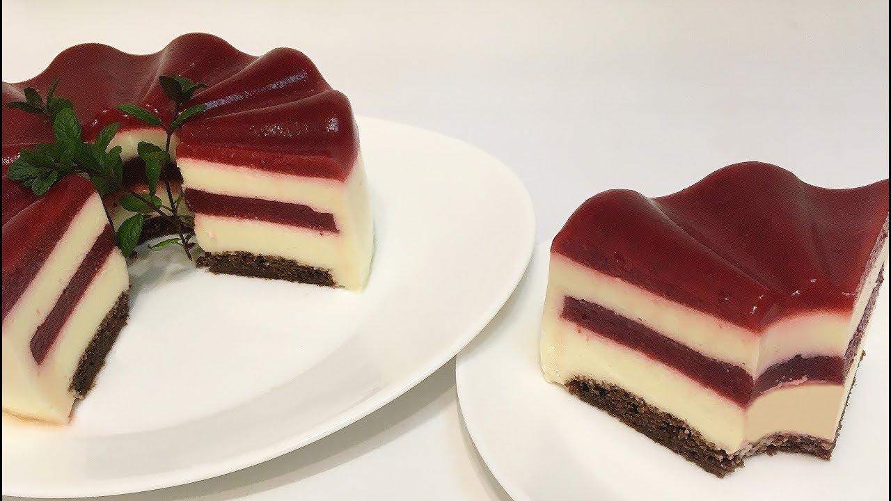 Муссовый вишневый торт рецепт с фото просты