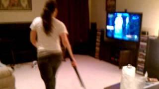 Motion capture gaming.  Kung fu live