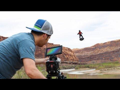Flying Man Caught on Camera!