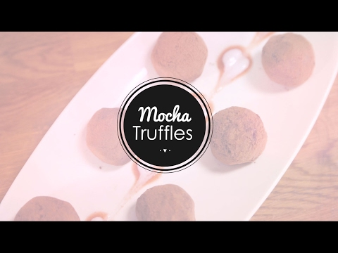 Valentine's Day Recipe Vegan Mocha Truffles with Savera