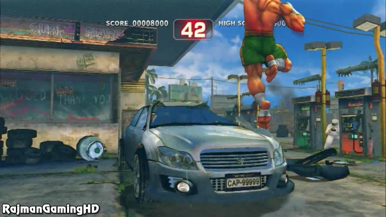 Super Street Fighter Iv Bonus Stage Car Crush True Hd Quality