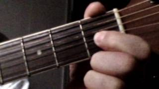a maj7, a ma7,  a major 7th, chord, how to play guitar tutorial very easy instruction lesson  free
