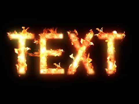 How To Make Flaming Text In After Effects - YouTube