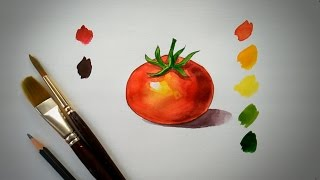 "How To Paint"" TOMATO "" For Beginners 