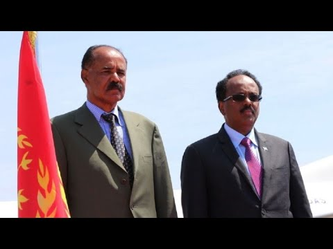 Le président érythréen Isaias Afwerki arrive à Mogadiscio