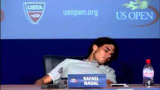 US Open 2011 - Rafael Nadal a des crampes en conférence de presse