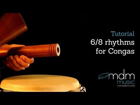 6/8 rhythms for congas-Free tutorial by Michael de Miranda