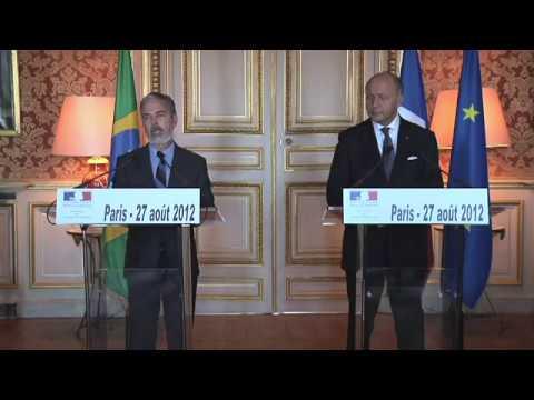 Laurent Fabius et son homologue brésilien Antonio Patriota (27.08.12)