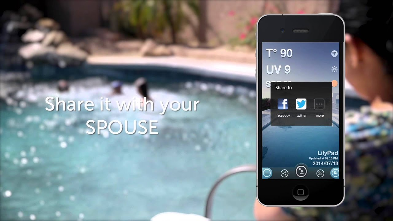 Lilypad The First Smart Bluetooth Pool Thermometer And Uv