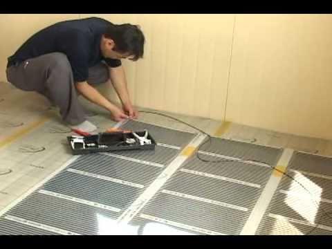 Infrared Underfloor Heating System - Installation