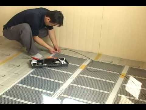 Infrared Underfloor Heating System Installation Youtube