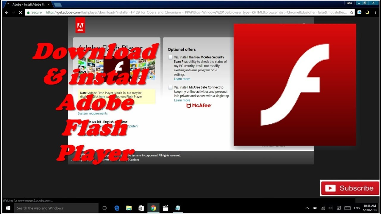 HOW TO DOWNLOAD and install Adobe flash player 2018    100 ...