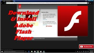 HOW TO DOWNLOAD and install Adobe flash player 2018 || 100% Working
