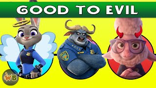 Zootopia Characters: Good to Evil