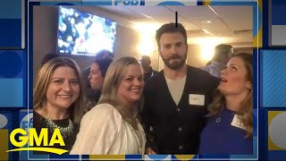 'Avengers' star Chris Evans attends his high school reunion | GMA