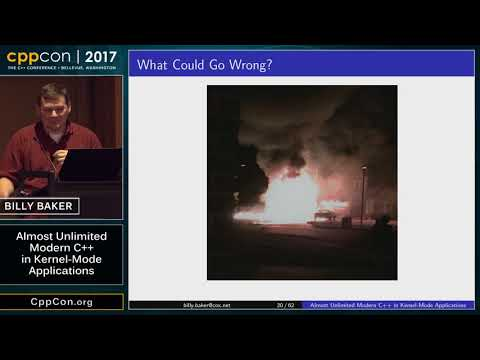 "CppCon 2017: Billy Baker ""Almost Unlimited Modern C++ in Kernel-Mode Applications"""