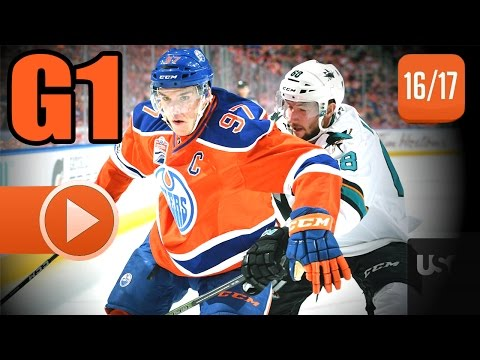 San Jose Sharks vs Edmonton Oilers. 2017 NHL Playoffs. Round 1. Game 1. April 12th, 2017. (HD)