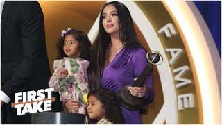 First Take discusses Vanessa Bryant's moving speech for Kobe at the Hall of Fame induction