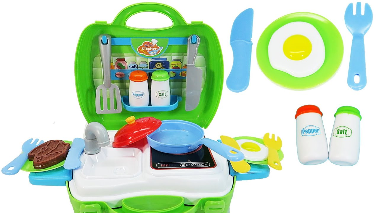 Kitchen Toys for Children Sink and Stove Pretend Food Playset