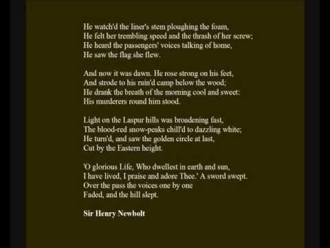 Sir Henry Newbolt - Poem: 'He fell among thieves', read by Jasper Britton