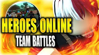 NEW TEAM BATTLES UPDATE IN HEROES ONLINE | Roblox | iBeMaine