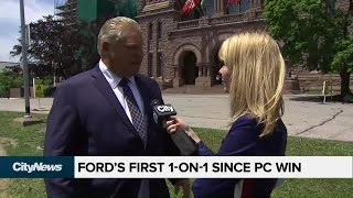 Premier-elect Doug Ford's first one-on-one interview since Ontario election victory