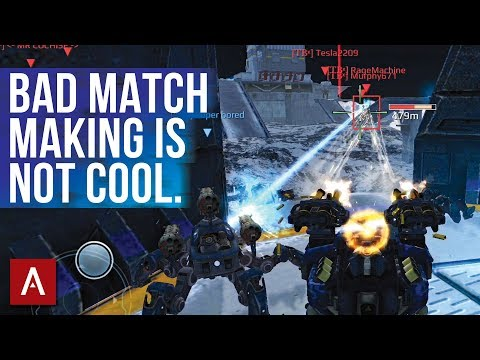 BAD MATCH MAKING / 2 Million Damage Facing Full Squad in Champion League / War Robots Gameplay