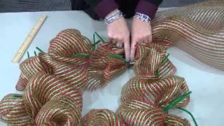 Deco Mesh Wreath Tutorial by STLCC Continuing Education