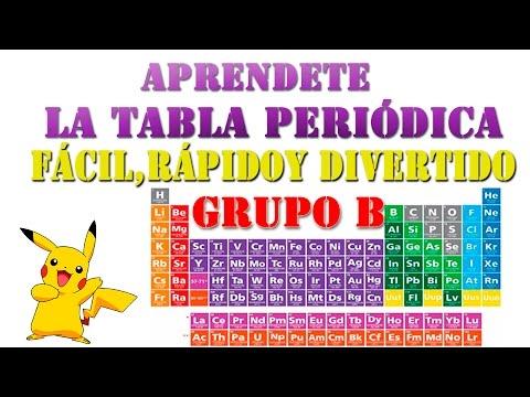 grupo 2 de la tabla periodica de los elementos youtube - Tabla Periodica Facil