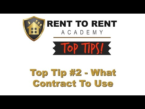 What Contract to Use with Rent to Rent