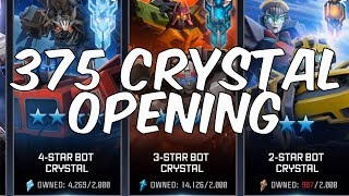 EPIC 375 CRYSTAL OPENING! 35 x PREMIUM BOT CRYSTALS + MORE - TRANSFORMERS: Forged To Fight