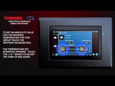 Video 52 - Toshiba RBC-TBPTS Touch Screen Energy Saving Options
